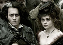 Johnny Depp and Helena Bonham Carter in Sweeney Todd: The Demon Barber of Fleet Street