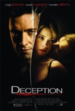 """Deception"" movie poster"