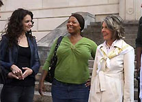 Katie Holmes, Queen Latifah and Diane Keaton in Mad Money