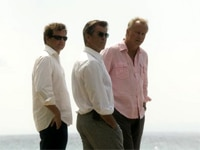 Colin Firth, Pierce Brosnan and Stellan Skarsgård in Mamma Mia!