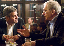 George Clooney and Sydney Pollack in Michael Clayton