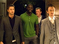 Gerard Butler, Idris Elba, Matt King and Geoff Bell in Rocknrolla