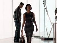 Gerard Butler and Thandie Newton in Rocknrolla