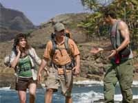 Milla Jovovich, Steve Zahn, and Timothy Olyphant of A Perfet Getaway