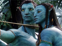 Sam Worthington and Zoe Saldana in Avatar