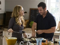 Leslie Mann and Adam Sandler in Funny People