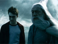 Daniel Radcliffe and Michael Gambon in Harry Potter and the Half-Blood Prince