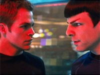 Chris Pine and  Zachary Quinto in Star Trek
