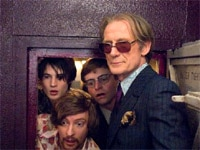 Rhys Darby, Tom Sturridge and Bill Nighy in The Boat That Rocked