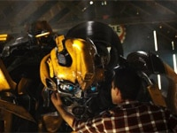 Bumblebee and Shia LaBeouf in Transformers: Revenge of the Fallen