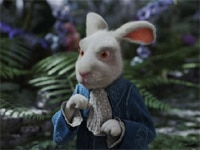 Michael Sheen as the White Rabbit in Alice in Wonderland