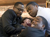 Martin Lawrence, Peter Dinklage, Tracy Morgan and Chris Rock in Death at a Funeral