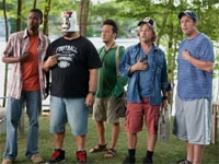 Chris Rock, Kevin James, Rob Schneider, David Spade and Adam Sandler in Grown Ups