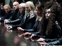 Helena Bonham Carter, Helen McCrory, Jason Isaacs and Tom Felton in Harry Potter and the Deathly Hallows: Part 1