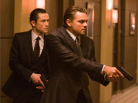 Joseph Gordon-Levitt and Leonardo DiCaprio in Inception