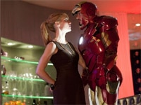 Gwyneth Paltrow and Robert Downey, Jr. in Iron Man 2