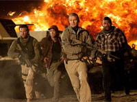 Bradley Cooper, Sharlto Copley, Liam Neeson and Quinton 'Rampage' Jackson in The A Team