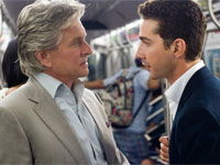 Michael Douglas and Shia LeBeouf in Wall Street: Money Never Sleeps