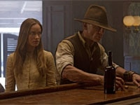 Olivia Wilde and Daniel Craig in Cowboys & Aliens