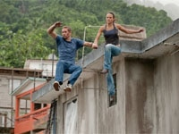 Paul Walker and Jordana Brewster in Fast Five