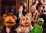 Fozzie Bear, Miss Piggy and Kermit the Frog in The Muppets