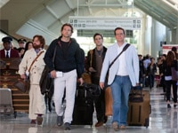 Zach Galifianakis, Bradley Cooper, Ed Helms and Justin Bartha in The Hangover Part II