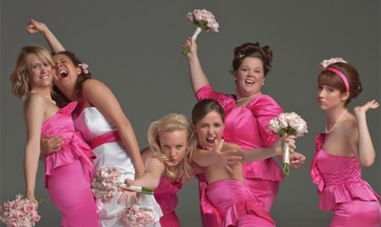 The cast of Bridesmaids, one of our Top 10 Films of 2011