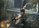 Colin Farrell and Jessica Biel in Total Recall