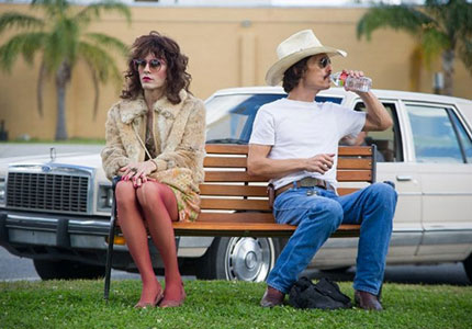 Matthew McConaughey and Jared Leto in the Dallas Buyers Club, one of GAYOT's Top 10 Films of 2013