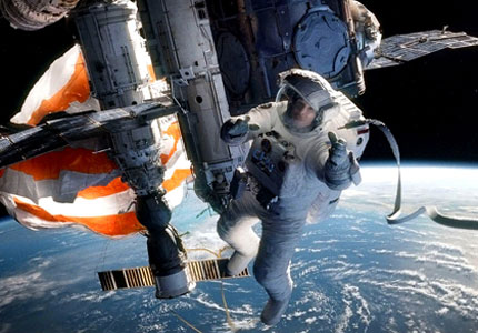 Sandra Bullock in Gravity, one of GAYOT's Top 10 Films of 2013