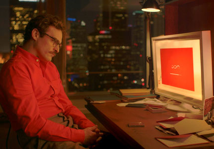 Joaquin Phoenix stars in Her, one of GAYOT's Top 10 Films of 2013