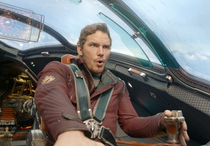 Chris Pratt in Guardians of the Galaxy, one of GAYOT's Top 10 Films of 2014