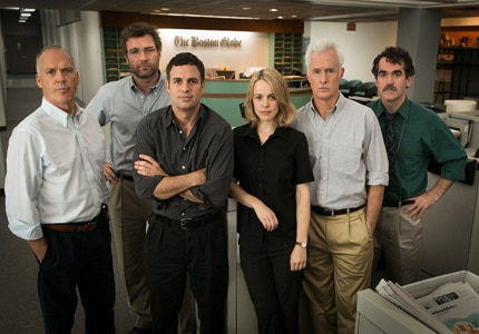 The all-star cast of Spotlight, which tells the story of reporters uncovering sexual child abuse in the Catholic church