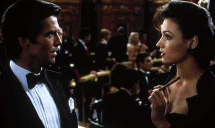 Pierce Brosnan and Famke Janssen in Goldeneye