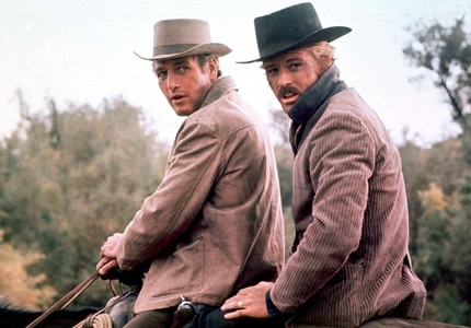 Paul Newman and Robert Redford in Butch Cassidy and the Sundance Kid, one of GAYOT's Top 10 Westerns