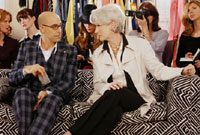 Stanley Tucci and Meryl Streep in The Devil Wears Prada