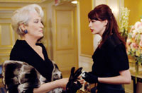 Meryl Streep and Anne Hathaway in The Devil Wears Prada
