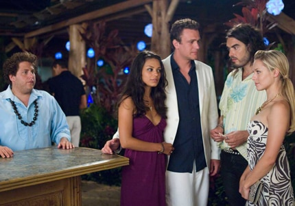 Jason Segel, Mila Kunis and Russell Brand star in Forgetting Sarah Marshall