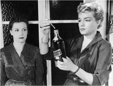 Simone Signoret and Vera Clouzot, the two delicious 'devils' of Henri-Georges Clouzot's timeless thriller Diabolique