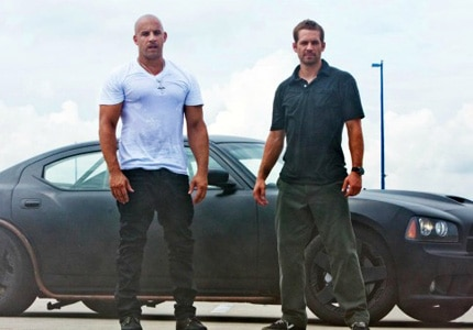 Vin Diesel and Paul Walker in Furious 7