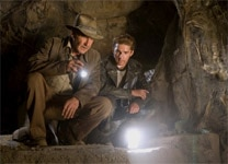 "Harrison Ford and Shia LaBeouf in ""Indiana Jones and the Kingdom of the Crystal Skull"""