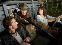 "Shia LaBeouf, Harrison Ford, and Karen Allen in ""Indiana Jones and the Kingdom of the Crystal Skull"""