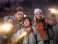 Brendan Fraser, Josh Hutcherson and Anita Briem in Journey to the Center of the Earth