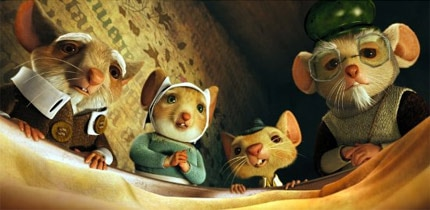 A gathering of characters from The Tale of Despereaux, one of GAYOT's top kids movies