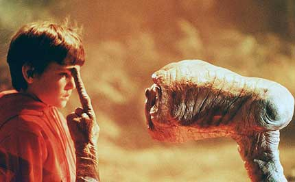 Henry Thomas stars as a boy who befriends an alien in E.T. the Extra-Terrestrial