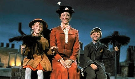 Julie Andrews in Mary Poppins, one of GAYOT's Top 10 Kids Movie