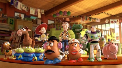Buzz, Woody and company in Pixar's Toy Story