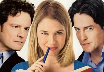 Colin Firth, Renee Zellweger and Hugh Grant star in Bridget Jones's Diary