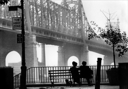 The iconic bridge scene in Woody Allen's Manhattan, one of our Top 10 Romantic Movies