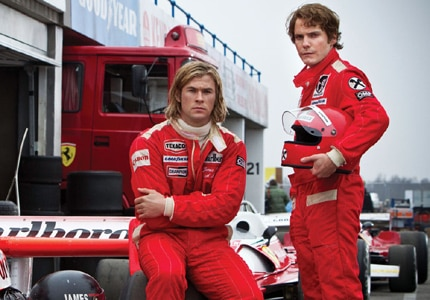 Chris Hemsworth and  Daniel Bruhl star in Rush